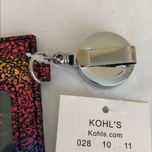 Kohl's Other - NEW! Retractable ID Holder - multi color